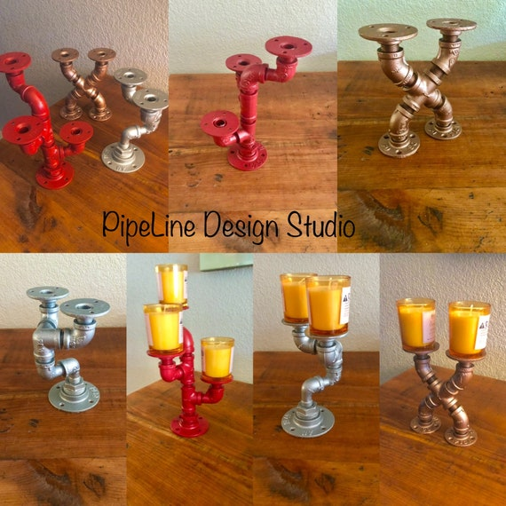 Industrial Pipe Candle Holders - Perfect gift idea!
