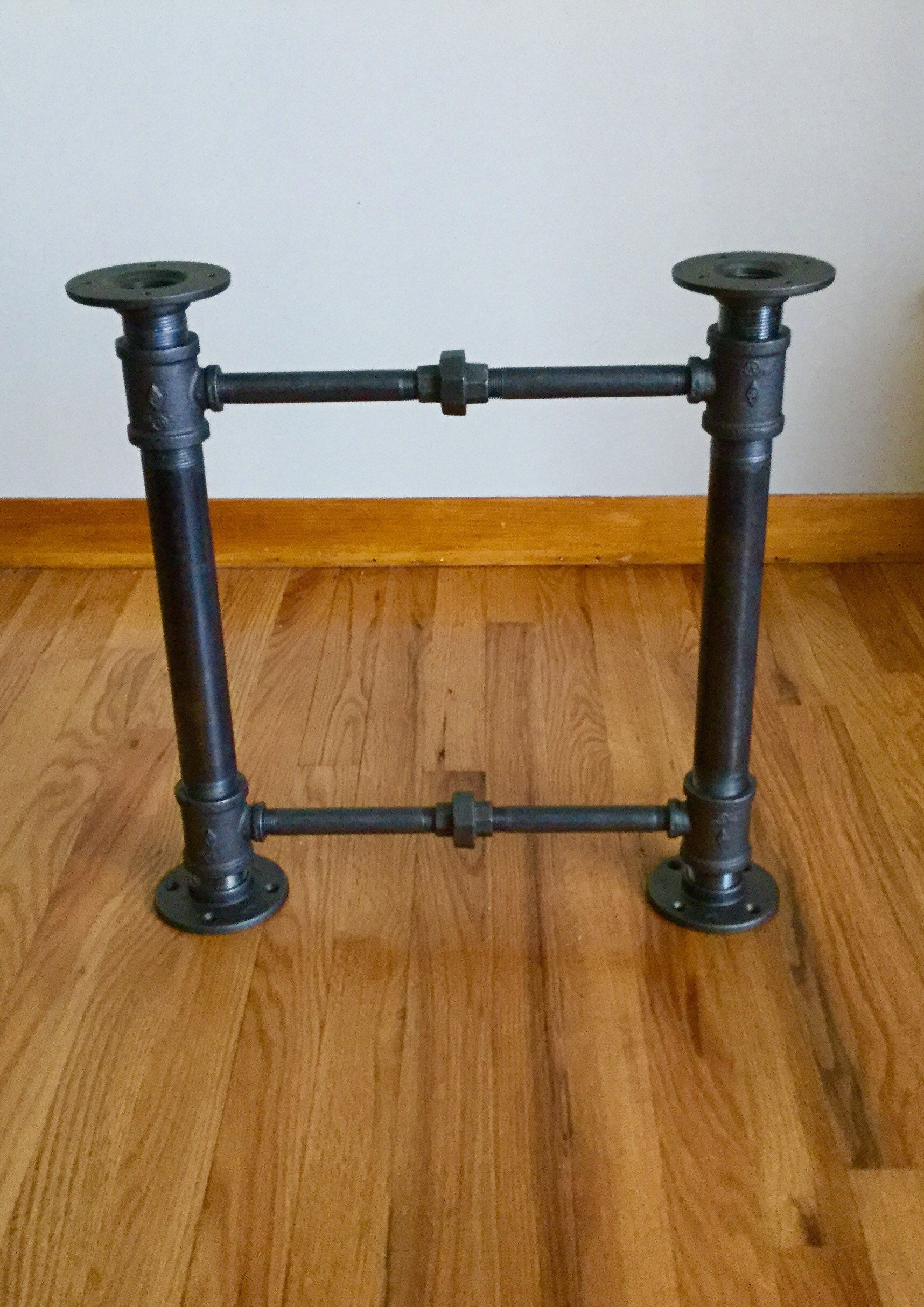 Iron Pipe Coffee Table Frame/Base  Black Pipe DIY Parts Kits, 1 1/4 Pipe X  20 Wide X 20 Tall,