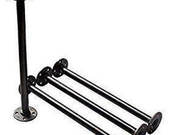 """Industrial Black Iron Pipe Table Legs ,INCLUDES 4 Complete Table Legs 1-1/2"""" Diameter and 6"""", 7"""", 8"""", 9"""", 10"""", 12"""", 18"""", 24"""", 30"""", 36"""" """"DIY"""""""