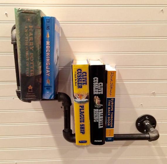 "Industrial Black Pipe Book Shelf ""DIY"" Parts Kit"