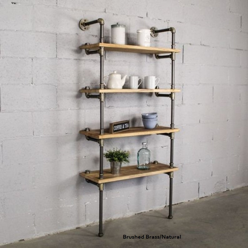 Industrial Chic 4 Tier Bookcase 67 Tall X 27 Wide X 12 Deep