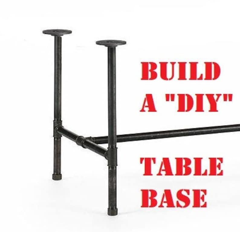 Black Pipe Table Base DIY Kit 1 x 30 image 0