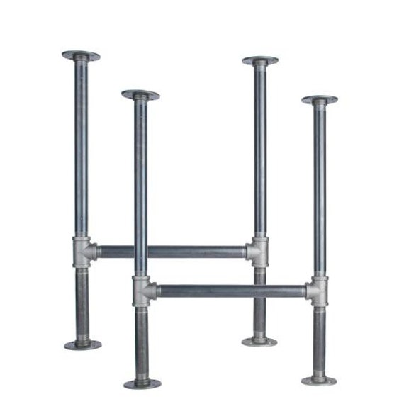 """Black Pipe Table Frame/Table Legs """"DIY"""" Parts Kit, 2 End Frames 1"""" Black Pipe X 22"""" Wide X 28.5"""" Tall"""