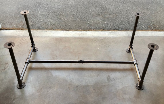 """Black Pipe Table Base, """"DIY"""" Kit, 3/4"""" x 40"""" tall - Length- 26"""", 32"""", 38"""", 44"""", 56"""", 68"""", or 80"""" Width- 12"""", 16"""", 20"""", 24"""", 26"""", 28"""" or 30"""""""