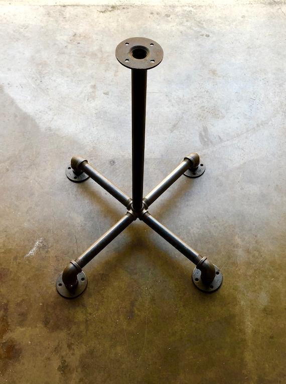 "Black Pipe Table Base ""DIY"" Parts Kit, Pedestal Table Base, Pub, Bar Table,1"" Pipe x 42.5"" Tall"