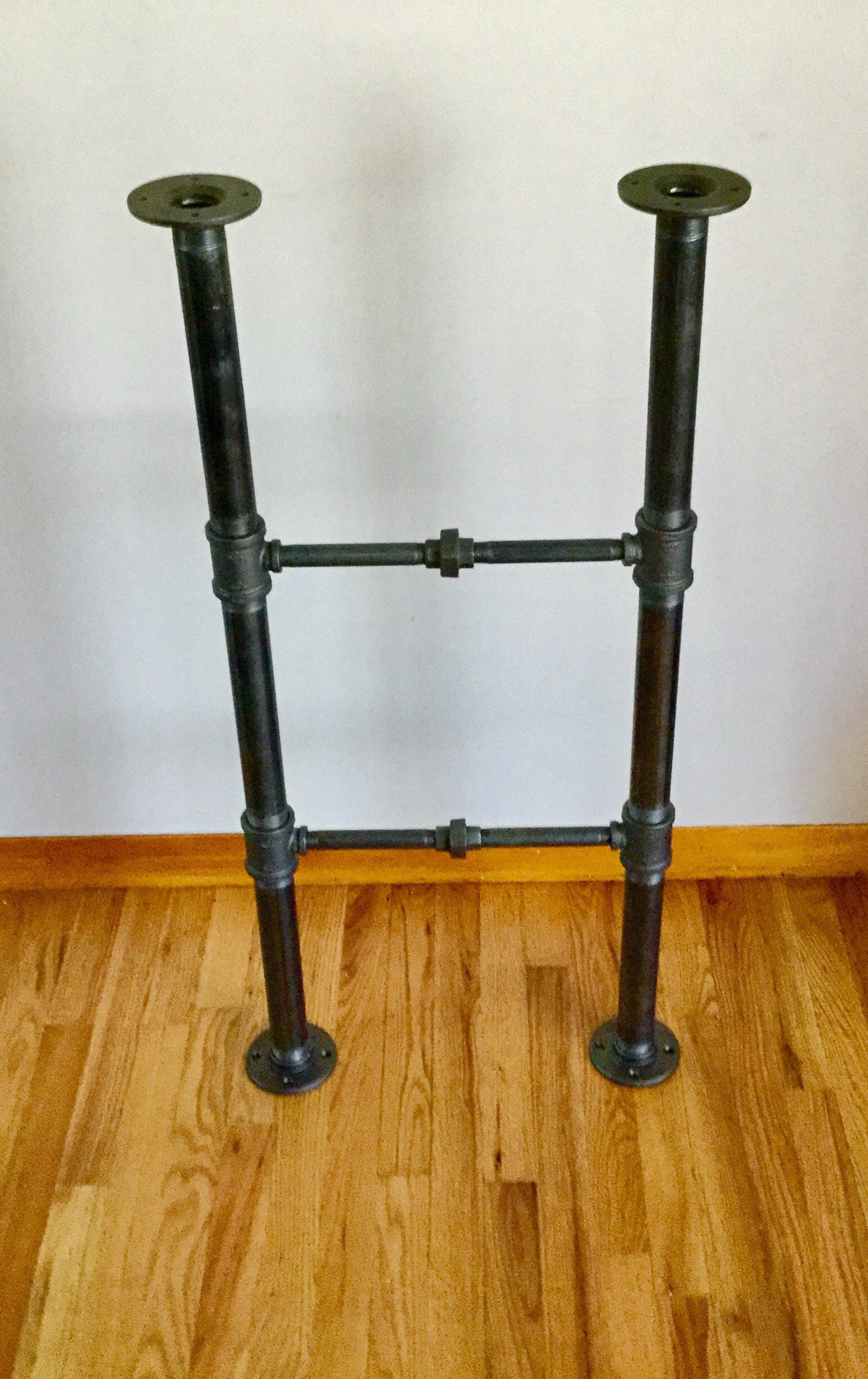 Industrial Iron Pipe Table Frame/Base- Black Pipe DIY Parts Kits, 1 ...