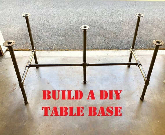 """Black Pipe Table Base -""""DIY"""" Parts Kit, 3/4"""" x 66"""" long x 28"""" wide, Choose Height -28"""", 30"""", 32"""", 34"""", 36"""", 38"""", 40"""", 42"""" or 44"""" tall"""