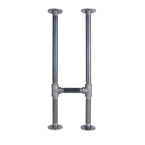 """Black Pipe Table Frame/Table Legs """"DIY"""" Parts Kit, 2 End Frames 1"""" Black Pipe X 12"""" Wide X 28.5"""" Tall"""