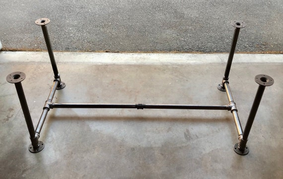 """Pipe Table Base, """"DIY"""" Kit, 1"""" x 28"""" tall - Length- 26"""", 32"""", 38"""", 44"""", 56"""", 68"""",80"""" or 92"""" Width- 12"""", 16"""", 20"""", 24"""", 26"""", 28"""" or 30"""""""