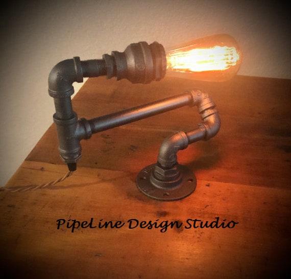 Industrial Pipe Lamp/Light, Desk Lamp