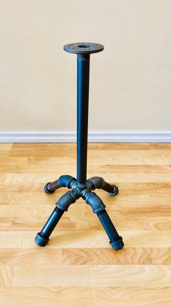 Black Pipe Table Base Diy Parts Kit Pedestal Etsy