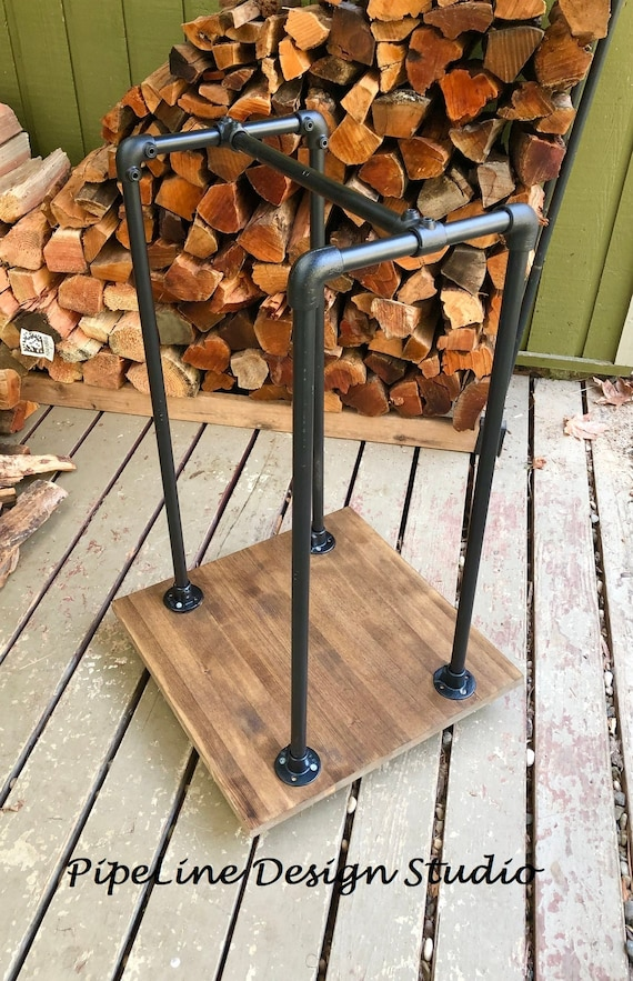 Pipe Firewood Storage Rack with Wheels