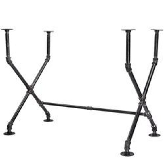 """Black Pipe Table Base """"DIY"""" Parts Kit-  22"""" wide x 44"""" long x 31"""" tall"""