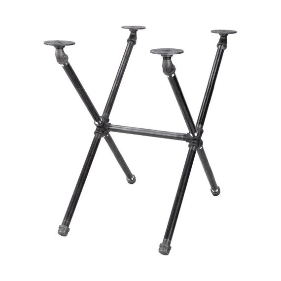 """Black Pipe Table Base """"DIY"""" Parts Kit-  14"""" wide x 22"""" long x 20"""" tall"""
