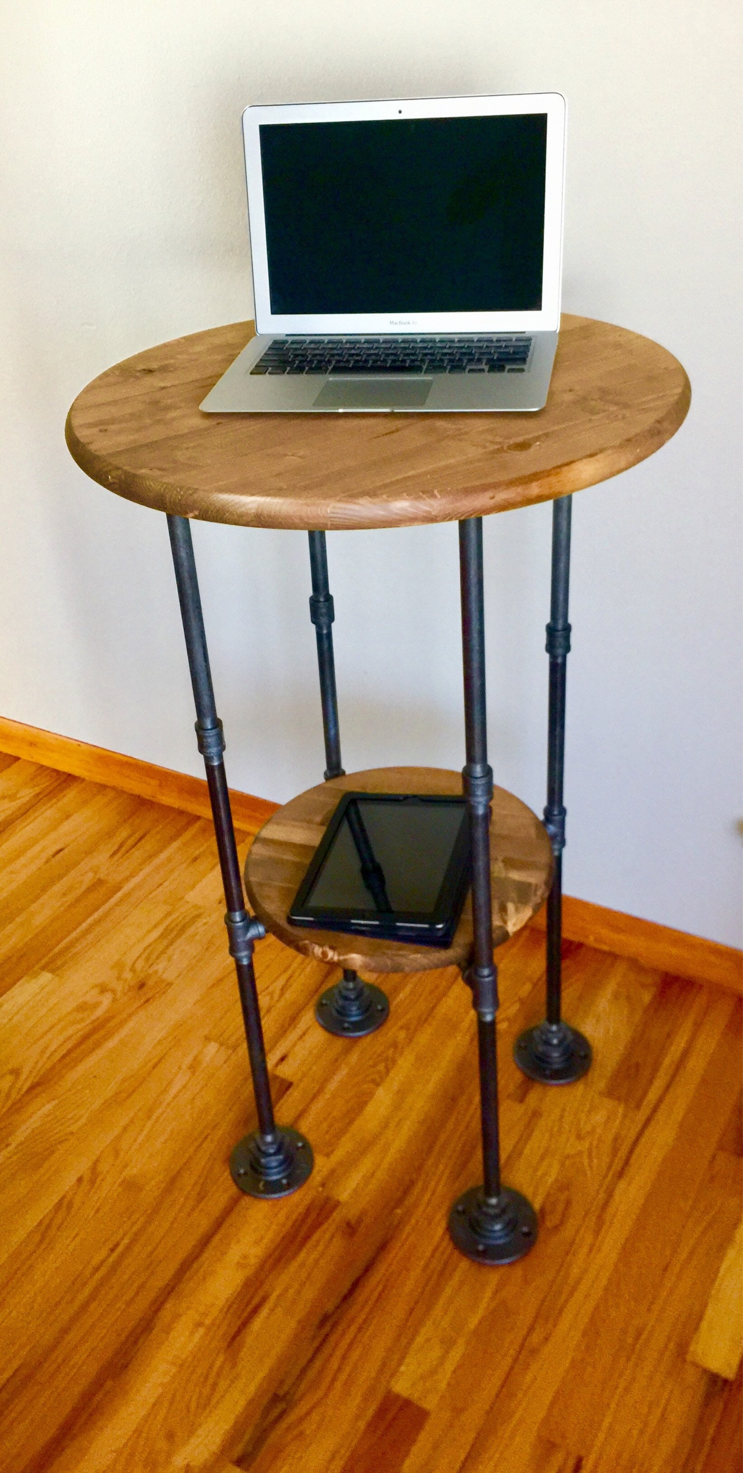 Black Pipe Table Base, Standing Desk DIY Parts Kit with optional