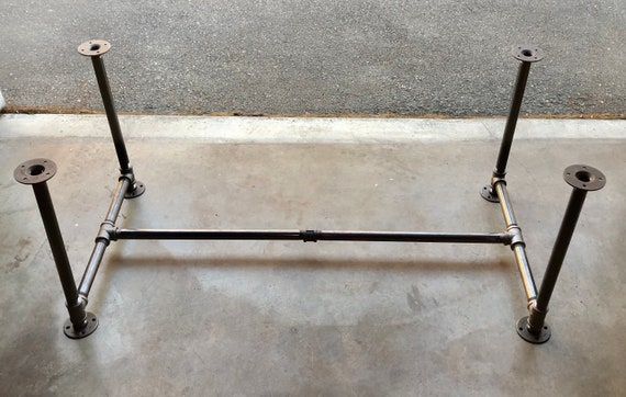"""Black Pipe Table Base, """"DIY"""" Parts Kit, 3/4"""" Pipe x 28"""" wide x 28"""" tall - Lengths available - 40"""", 46"""", 58"""", 70"""", 82"""", and 94"""""""