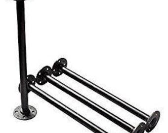 "Industrial Black Iron Pipe Table Legs , INCLUDES 4 Complete Table Legs 1/2"" Diameter - 6"", 7"", 8"", 9"", 10"", 12"", 18"", 24"", 30"" & 36""  ""DIY"""
