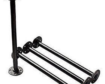 """Industrial Black Iron Pipe Table Legs , INCLUDES 4 Complete Table Legs 1"""" Diameter and 6"""", 7"""", 8"""", 9"""", 10"""", 12"""", 18"""", 24"""", 30"""", 36""""  """"DIY"""""""