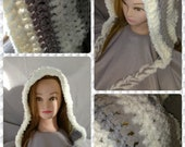 Handmade crocheted hood