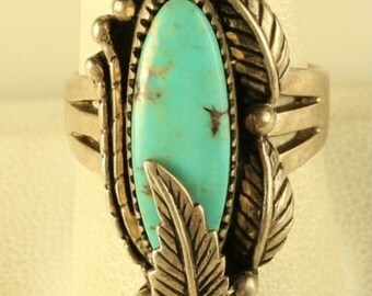 Vintage Carol Felley Turquoise Saddle Ring