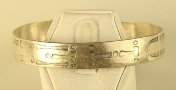 Vintage Camp Fire Girls WOHELO sterling silver bracelet