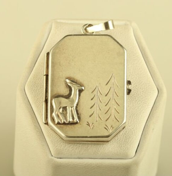 Antique Sterling 910 Circa 1920's Stag Dear Pine T