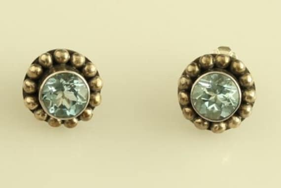Details about  /925 BA Suarti Bali Style Blue Topaz Earrings With Kidney Wire Closure.