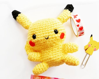 pikachu - pokemon - handmade crochet toy - amigurumi - cute doll