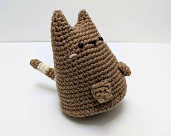 kitty cat dumpling | made-to-order | cute cat toy - handmade crochet - amigurumi - stuffed doll - plush