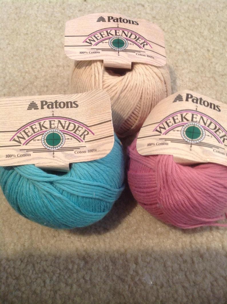 Patons Weekender cotton yarn