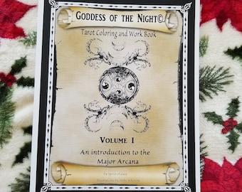 Goddess of the Night Tarot Coloring/Workbook Mis-Prints