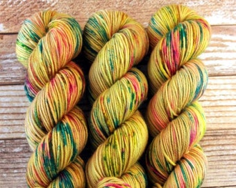 Amelia - Wonder Woman 84 - Hand Dyed Yarn - 100% Superwash Merino DK weight