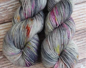 Brillante - Dark Magic - Hand Dyed Yarn - 75/20/5 Superwash Merino/Nylon/Stellina