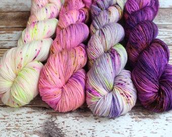 Hand Dyed Yarn Catherine\u2019s Cashmere Fingering Easter Sunday
