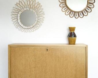 "Wall secretary in varnished oak plated ""Elvis"" - vintage 50s"