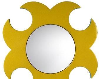 """Round mirror gold """"Luna"""""""