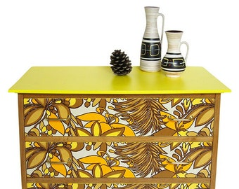 """Commodity 3 drawers in solid wood """"Vanina"""""""