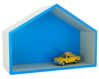 "Blue house shelf ""Debbi"""