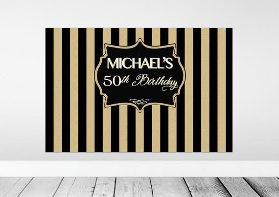 Black And Gold Backdrop Black And Gold Birthday Backdrop Etsy