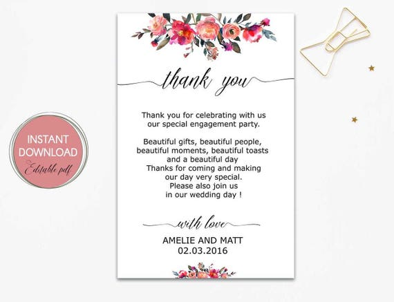 Thank You Letter For Wedding Guests: Wedding Thank You Letter Wedding Thank You Notes