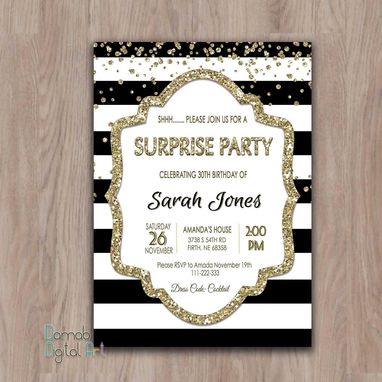 Surprise birthday invitation. Surprise birthday invites. | Etsy