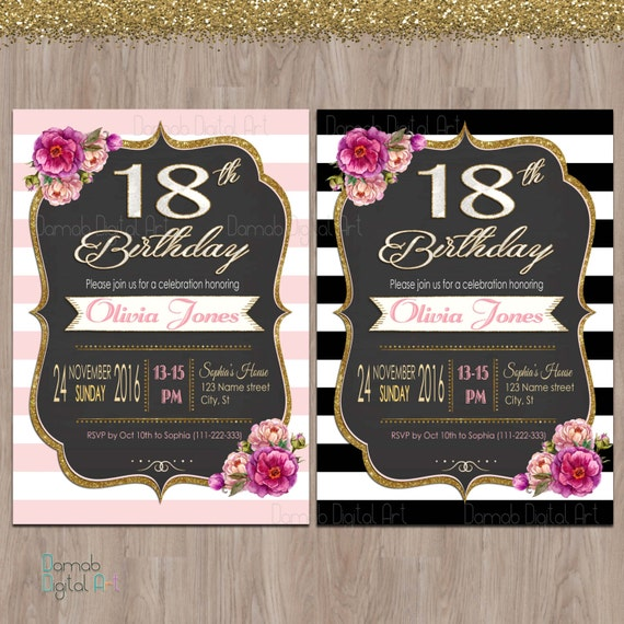 18th birthday invitations 18th birthday party invitations etsy image 0 filmwisefo