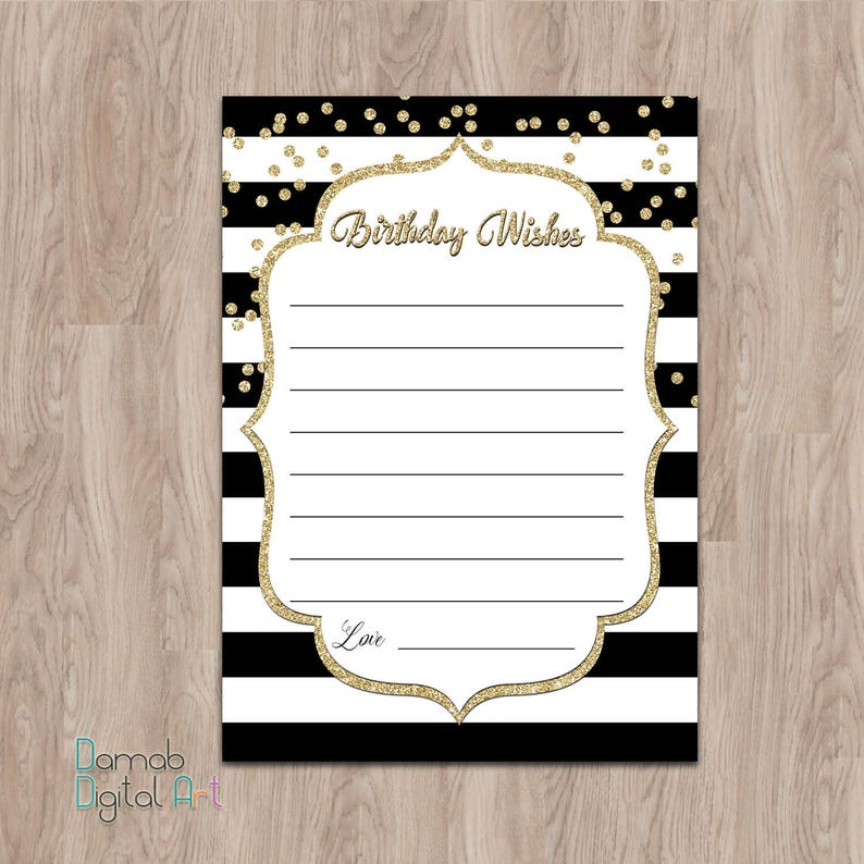 BIRTHDAY WISH CARD Birthday Wishes Cards Black And Gold