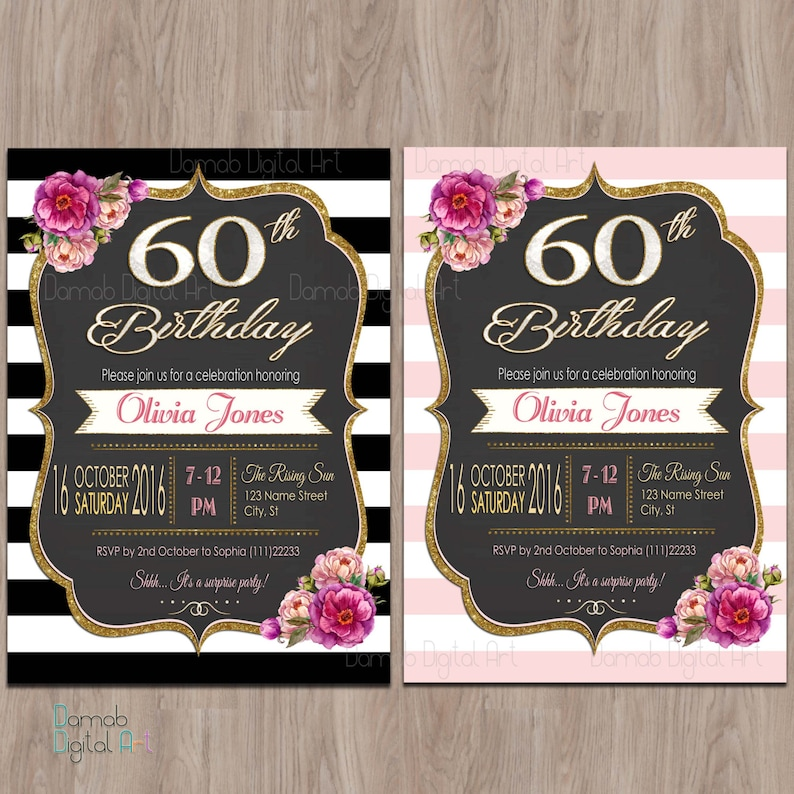 60th Birthday Invitations For