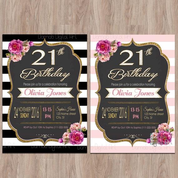 21st birthday invitations 21 birthday invitations twenty etsy image 0 filmwisefo