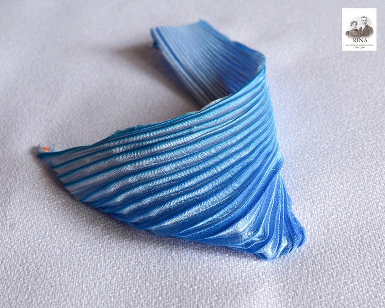 each piece 15-17 cm 4pc Silk Shibori Ribbon Handmade