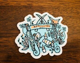 DA Tiki Tony Clear vinyl Stickers!