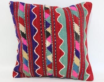 Bohemian Kilim Pillow Sofa Pillow Naturel Kilim Pillow 14x14 Bohemian Kilim Pillow Sofa Pillow Turkish Kilim Pilow SP3535-277