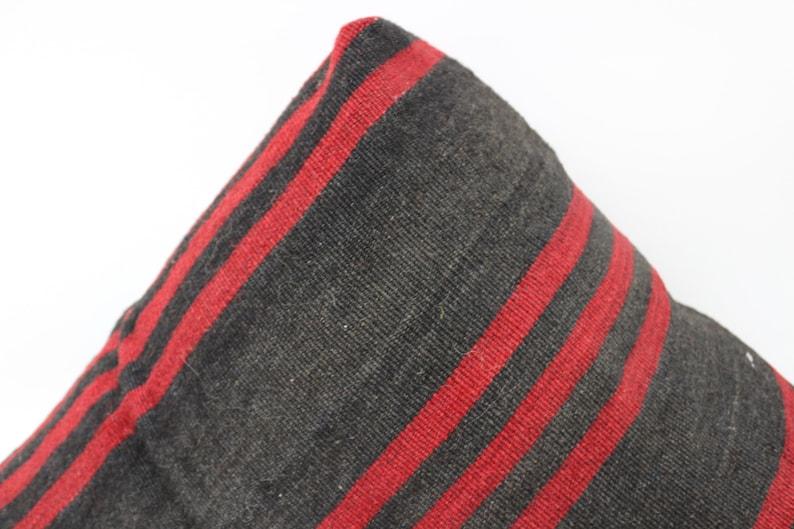 Kilim Pouf,Floor Puff,24x24x6,Pear Seat,Black Striped Pear Pouf,Floor Pillow Cover,Garden Pouf Pillow Cover,Home Decor Puffs SP606015 158