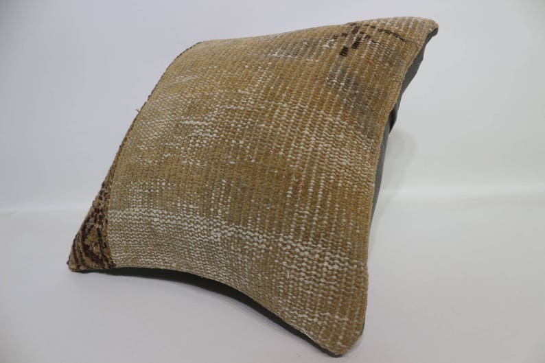 40x40 brown pillow decorative pillow bohemian carpet pillow home decor  16x16 cushion cover handwoven sham 16x16 throw pillow  SP4040-4408